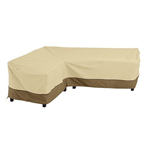 Classic Accessories 55-881-011501-RT Veranda Patio L-Shaped Sectional Sofa Cover, Left Facing