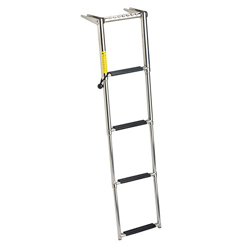 Garelick 19677:01 EEz-In Over-Platform Telescoping Ladder - 4 (Step Transom Ladder)