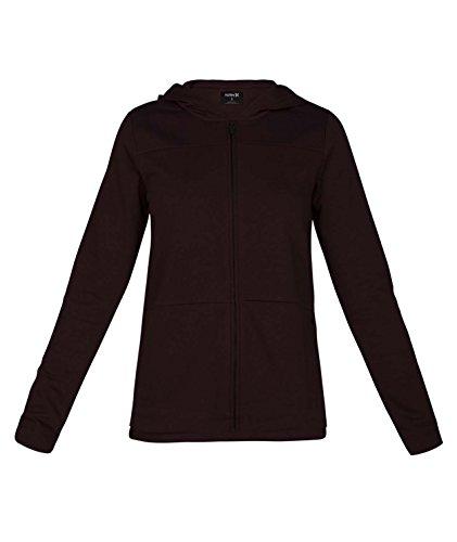 Burgundy 5 Zip - Hurley Junior's Icon Fleece Full Zip Hoodie Sweatshirt, Burgundy Crush 5, L