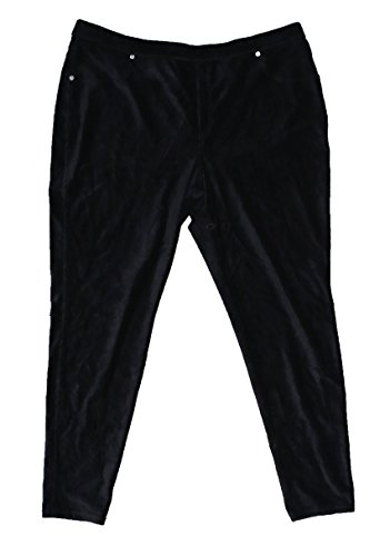 MICHAEL Michael Kors Womens Plus Matte Jersey Side Stripe Wide Leg Pants B/W (Michael Michael Kors Womens Stripe Pant)