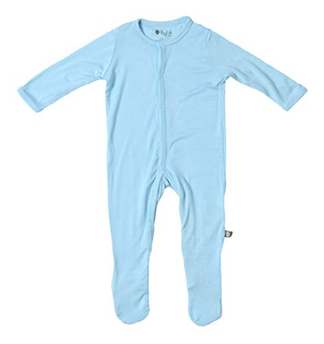 (KYTE BABY Footies - Baby Footed Pajamas Made of Soft Organic Bamboo Rayon Material - 0-24 Months - Solid Colors (18-24 Months, Powder))