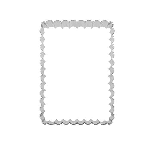 Danyerst Fluted Rectangle Stainless Steel Cutter, Biscuit Cookie Cake Baking Mold, DIY Pastry Fondant Decorating Tool