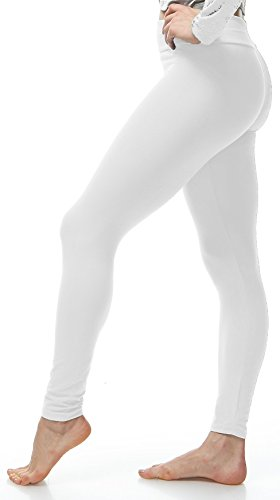 Lush Moda Extra Soft Leggings - Variety of Colors - Yoga Waist - White ...