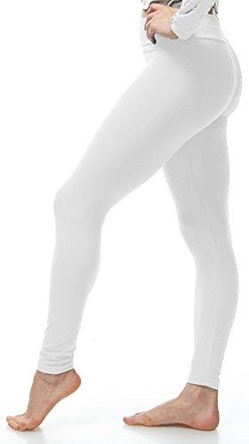 Lush Moda Extra Soft Leggings - Variety of Colors - Yoga Waist - White ... -