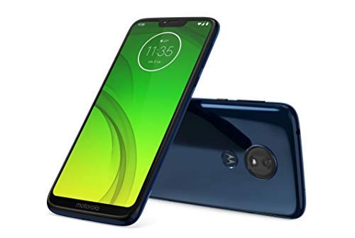 Motorola Moto G7 Power (64GB, 4GB RAM) Dual SIM 6.2'' 4G LTE (GSM Only) Factory Unlocked Smartphone International Model XT1955-2 (Marine Blue)