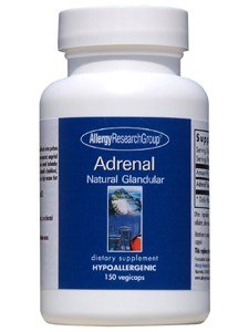 Adrenal Natural Glandular 100 Milligrams 150 Veg Capsules