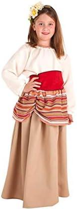 Disfraz de Campesina Medieval Carlota para niña: Amazon.es ...
