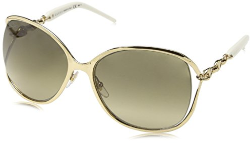 Gucci Women's Twist Sunglasses, Gold/Brown Gradient, One - Gucci Sunglasses Butterfly With