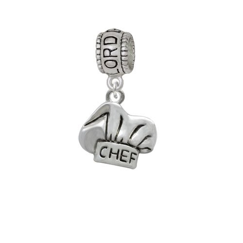 Lord Guide Me Charm Bead Silvertone Chef Hat