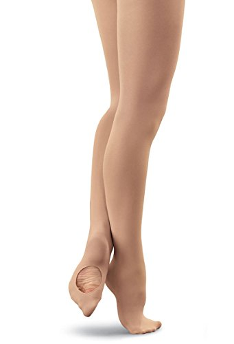 Balera Tights Womens Nylons Dance Convertible Adult Hosiery For Class And Performance Comfortable Durable Construction Lt. Suntan L -
