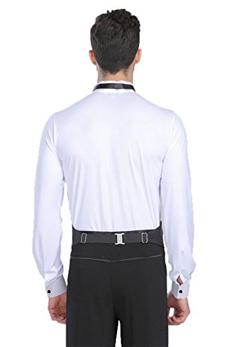 Latina Da Uomo Xfentech Ballo Danza Costumi Camicia Moda Body Moderno Bianco Abbigliamento B5XHHwx