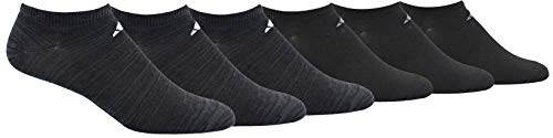 adidas Mens Superlite Low Cut Socks with arch compression (6-Pair),Black - Night Grey Space Dye/ White Black/ Onix,XL, (Shoe Size 12-15)