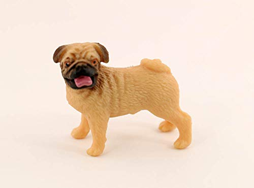 nanguawu 1/12 Dollhouse Miniature Animal Yellow Pug for sale  Delivered anywhere in USA