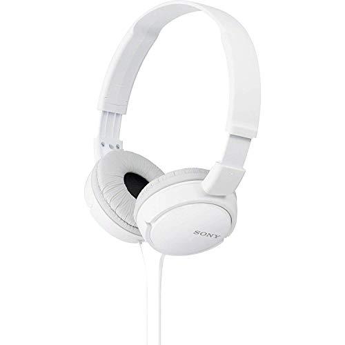 Fone de Ouvido Dobrável, Sony, MDR-ZX110, Branco