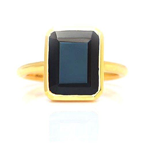 Nathis Black Onyx Large Rectangle Bezel Set Ring