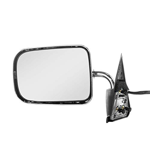 1997 Left Door Mirror - Left Driver Side Chrome Non-Heated Folding Door Mirror for Dodge Ram 1500 (1994 1995 1996 1997) Dodge Dakota (1987 1988 1989 1990 1991 1992 1993 1994 1995 1996)