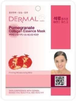 Dermal Korea Collagen Essence Full Face Facial Mask Sheet - Pomegranate