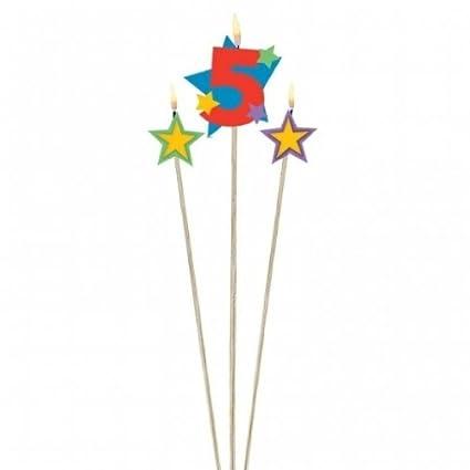 3 Cumpleaños velas estrellas con número Decoración