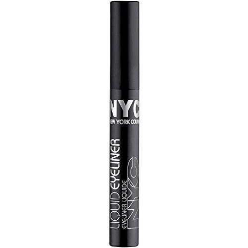 New York Color Liquid Eyeliner, Extreme Black 0.15 oz (Pack of 6) by N.Y.C.