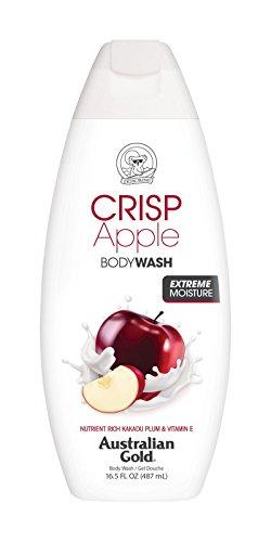 Australian Gold Body Wash, Gentle & Moisturizing with Nutrient Rich Kakadu Plum & Vitamin E, Crisp Apple, 16.5 Ounce