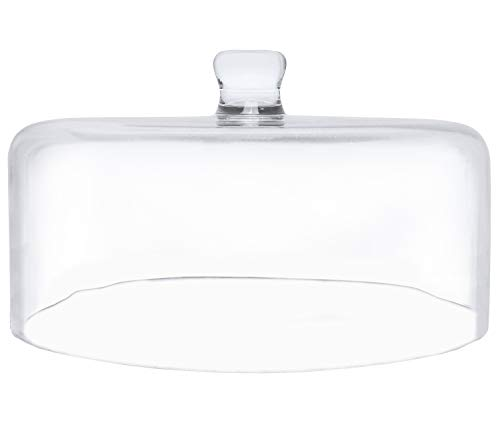 """Galashield Glass Cake Dome Cover 11.5"""" Diameter Clear"""