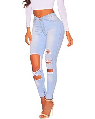 Up Chic Womens A Push Fashion Vita Skinny Denim Destroyed Pants Alta Stretch Hx Hellblau Boyfriend 8t0qp1nw