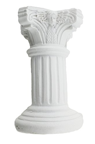 6 pcs of polyresin PILLAR white small pedestal/pillar stand - 4.5 inches Tall