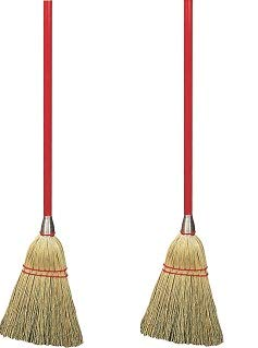 Carlisle 368100 Corn Blend Lobby Broom with Wood Handle, 34'' Length (Case of 12) (2-(Pack)) by Carlisle (Image #1)