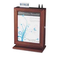 * Customizable Wood Suggestion Box, 10 1/2 x 13 x 5 3/4, Mahogany