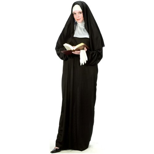 Mother Superior Costumes (Mother Superior Adult Costume - Plus Size 1X/2X)