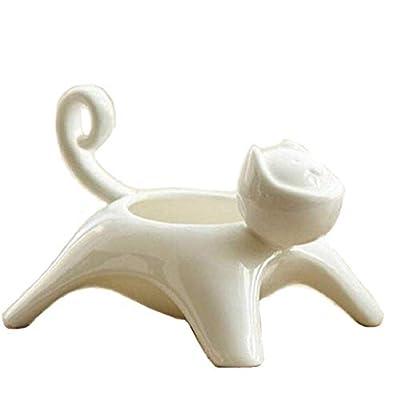 Cat Box zoele Creative Cute Cat Shape Ceramic Succulents Flower Pots Candlesticks Holders Egg Cups Ashtray S [tag]