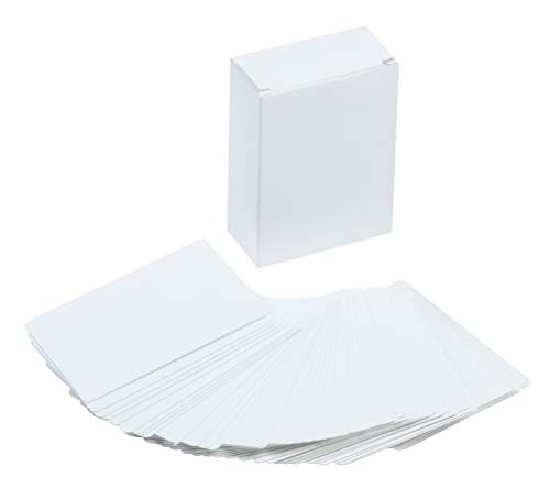 Blank Index Card - 216-Piece White Cardstock, Flash Cards, Note Cards, Perfect for DIY Game Card, Study, School, Language Learning, Memory Game, 420 GSM, 2.5 x 3.5 Inches ()