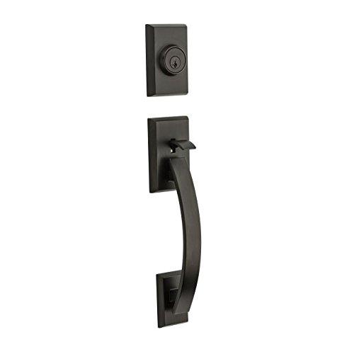 Kwikset 801TVHLIP-11PS Tavaris Double Cylinder Exterior Handleset Smart Key Venetian Bronze Finish