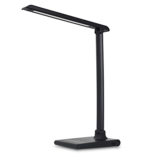 Phone Lamp (August LEC315 LED Light- Dimmable LED Desk Lamp with USB Phone Charger - Office Work Light with 3 Lighting Modes / Adjustable Brightness / 5V 1.5A Charging Port - Black)
