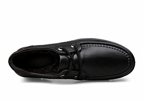 Studio da Nero Nero Scarpe Pizzo da Uomo Slip On Mocassini Casuale Eleganti Barca SK di Pelle Scarpe Loafers Guida dEqFFAT
