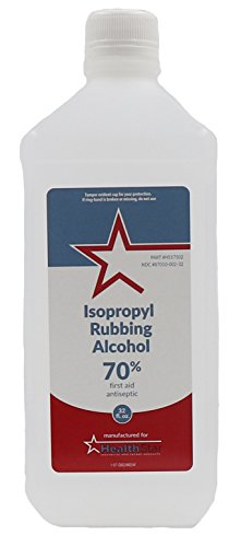 Healthstar 70% 32oz Isopropyl Rubbing Alcohol - Cleans, Disinfects, Relieves Muscle Pain - Made in USA (32 Oz Rubbing Alcohol)