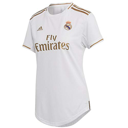 - adidas Women's Real Madrid Home Jersey 2019-20 (White/Gold) (M)