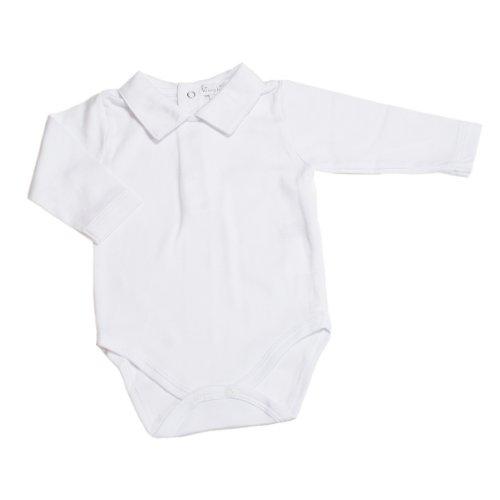 Kissy Kissy - Basic LS Bodysuit Collar - White-6-9mos ()
