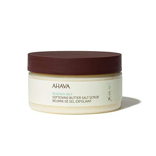 AHAVA Softening Butter Dead Sea Salt Scrub, 8 Oz