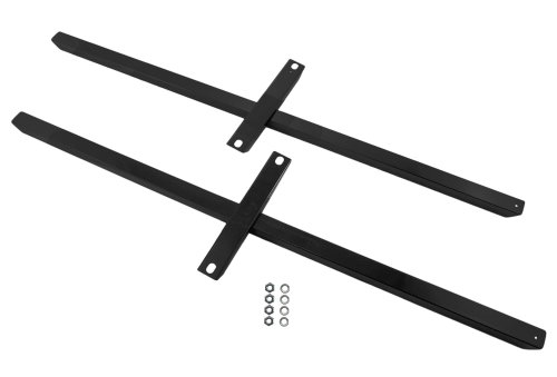 1979-2004 Mustang & Cobra 12 Gauge Subframe Connectors Black with - Subframe Connectors