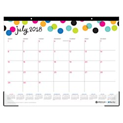 Ampersand for Blue Sky 2018-2019 Academic Year Monthly Desk Pad Calendar, 22