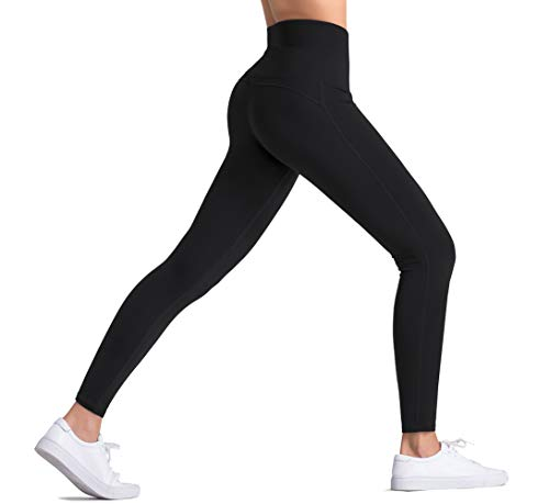 Dragon Fit High Waist Yoga Pants Capri with 3 Pockets,Tummy Control Workout Running Capri 4 Way Stretch Yoga Leggings