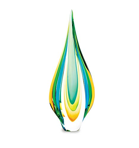 FA Decors Contemporary Style Cool Flame Art Glass Statue Figurine ()