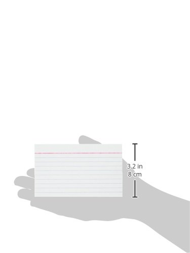 """043100633501 - MeadWestvaco 63350 3"""" X 5"""" White Ruled Index Cards 100 Count carousel main 4"""