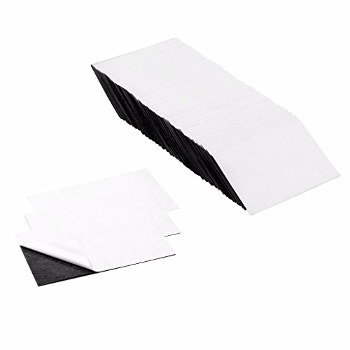 totalElement 3.5 x 2 Inch Business Card Strong Flexible Self-Adhesive Magnetic Sheets Peel & Stick Refrigerator Magnet Sheets (100 Pieces)