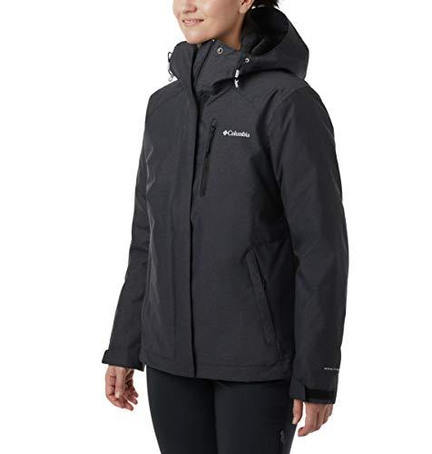 Columbia Women's Whirlibird Iv Interchange Jacket, Black Crossdye, 1X (Ski Jacket Women 1x)