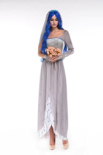 Corpse Bride Costume - Halloween Women Sexy The Corpse Bride Costume for Adult -