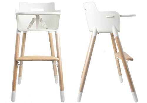 Asunflower Wooden High Chair Adjustable Feeding Baby Highchairs Solution with Tray for Baby/Infants/Toddlers from Asunflower