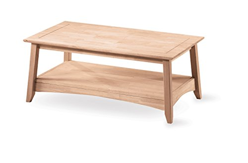 International Concepts Bombay Tall Coffee Table, Unfinished - Made from solid parawood Ready to assemble Unfinished, finishing kit is available for purchase - living-room-furniture, living-room, coffee-tables - 3141UNcQbbL -
