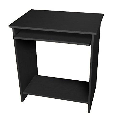 Lyndan - Astoria negro mesa de ordenador escritorio compacto para ...